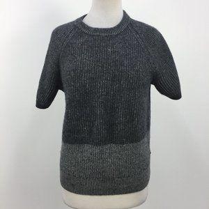Club Monaco Cashmere Ribbed Knit Grey Top